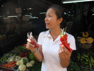 Market tour in Thailand