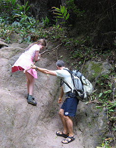 Family travel in Maui, hiking in Maui
