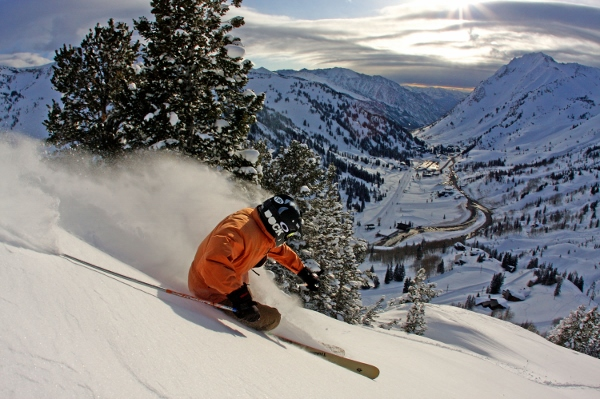 Alta skiing by Adam Barker for Visit Salt Lake