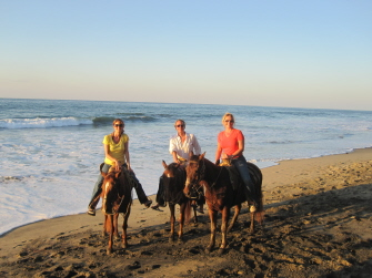 Carson Kressley with friends in Sayulita, Mexico